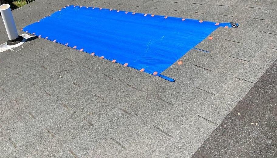 Partial Roof Tarp